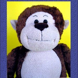 "Build Bear Marvelous Monkey 18"" Stuffed Animal"